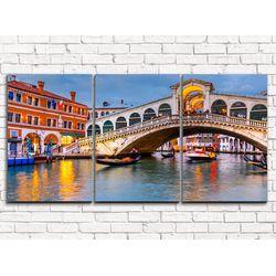 Модульная картина Мост в Венеции 120х60 см