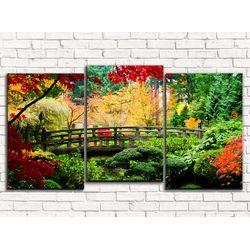 Модульная картина Осенние деревья 120х60 см