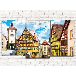 Модульная картина Немецкий квартал 120х60 см