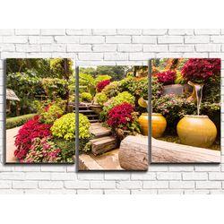 Модульная картина Прекрасный сад 120х60 см