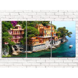 Модульная картина Вилла Портофино 120х60 см