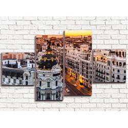 Модульная картина Мадрид 110х60 см