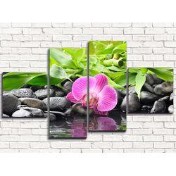 Модульная картина Несравненная орхидея 110х60 см 4 модуля
