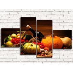Модульная картина Овощи 110х60 см