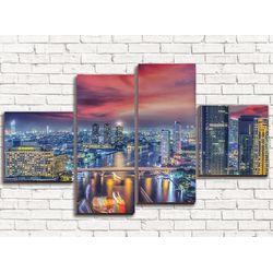 Модульная картина Розовый рассвет 110х60 см
