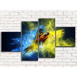 Модульная картина Шикарный попугай 110х60 см