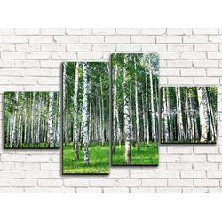 Модульная картина Березовая роща 2 110х60 см