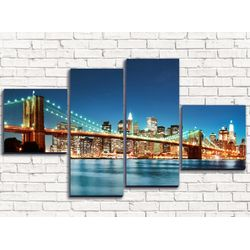 Модульная картина Бруклинский мост 3 110х60 см