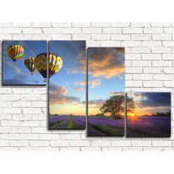 Модульная картина Воздушные шары 110х60 см