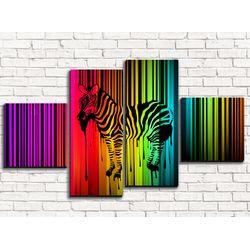 Модульная картина Зебра 110х60 см