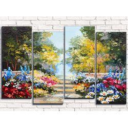 Модульная картина Живописный пейзаж 100х60 см