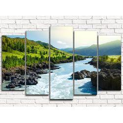 Модульная картина Горная река 125х80 см