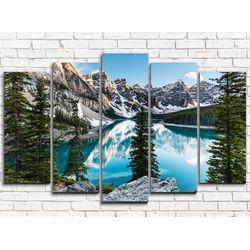 Модульная картина Горное озеро 125х80 см