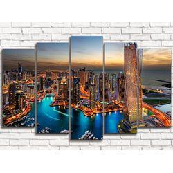 Модульная картина Дубаи 125х80 см 5 модулей