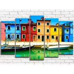Модульная картина Разноцветные дома 125х80 см