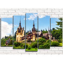 Модульная картина Замок в Румынии 125х80 см