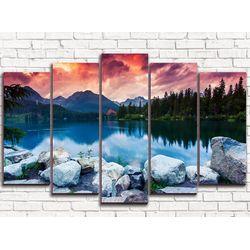 Модульная картина Каменное озеро 125х80 см