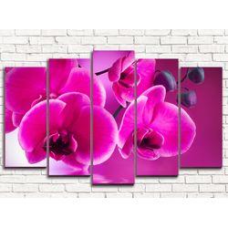 Модульная картина Розовая орхидея 125х80 см
