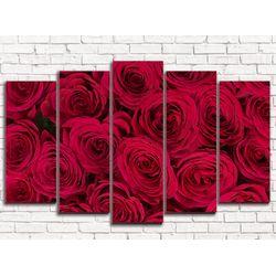 Модульная картина Бордовые розы 125х80 см