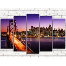 Модульная картина Бруклинский мост 2 125х80 см