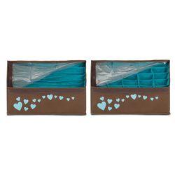 Набор из 2-х органайзеров для белья с крышкой, Классика