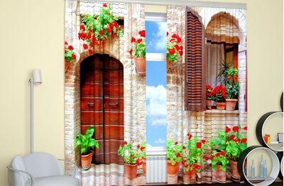 ФотоШторы Итальянский дворик