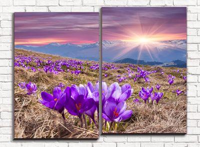 Модульная картина Дыхание весны 80х60 см