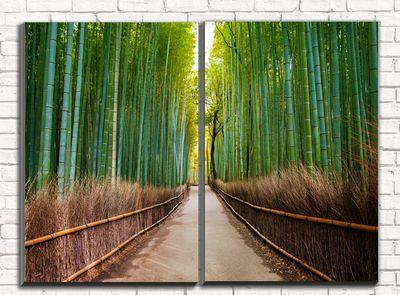 Модульная картина Бамбуковый лес 80х60 см