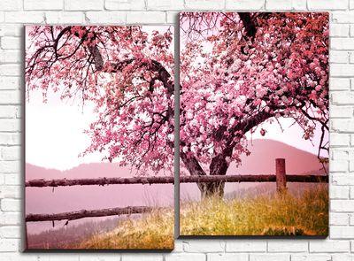 Модульная картина Красивейшее дерево 80х60 см