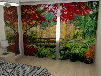 ФотоШторы Осенние деревья