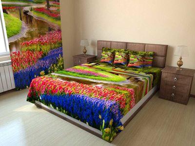 Покрывало стеганое Сад в цветах