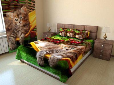 Покрывало стеганое Котёнок в гамаке