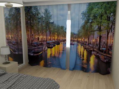 ФотоШторы Лодки на канале