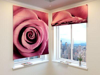 Римская Штора Бархатная роза