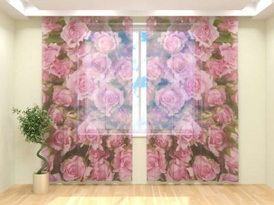 Тюль Нежные розы