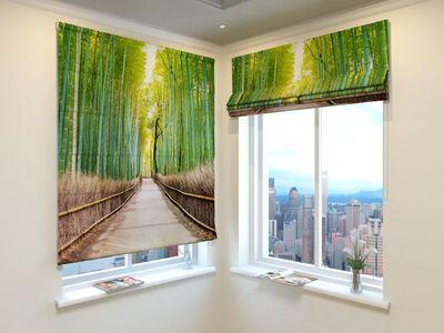 Римская Штора Бамбуковый лес