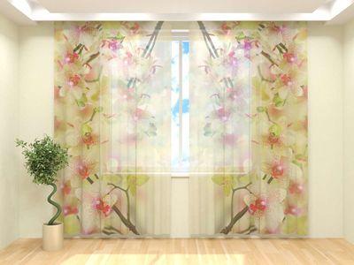 Тюль Воздушная орхидея