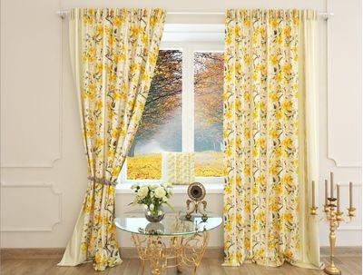 Шторы с желтыми цветами Донателла